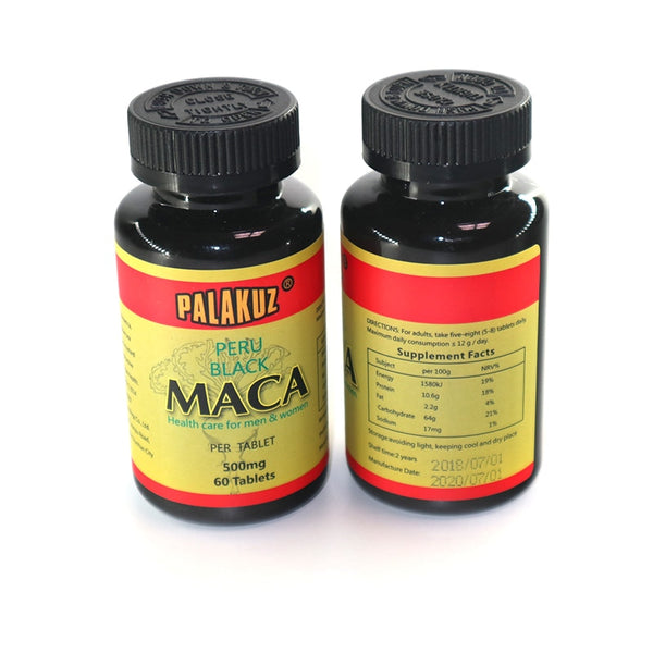 2 bottles,Natural black Maca root extracts Health care Energy boost  personal care both for men & women