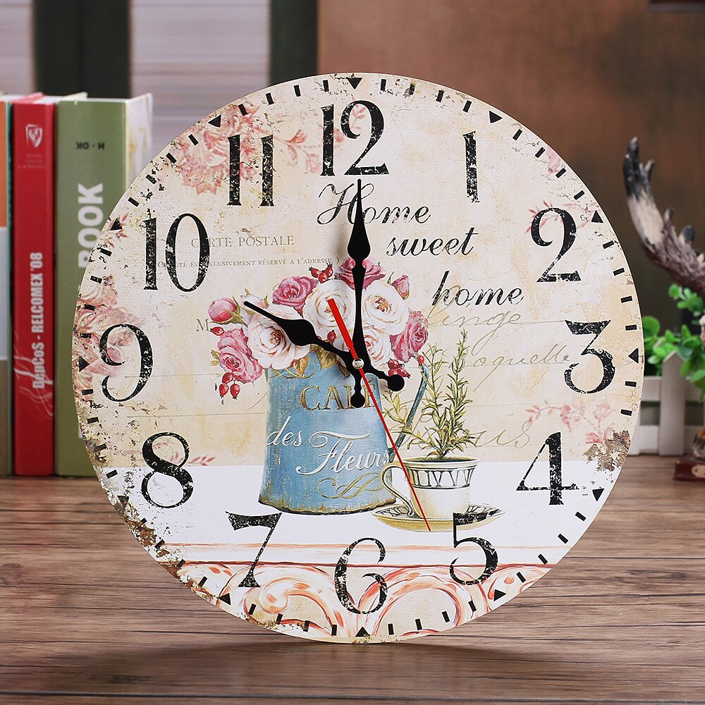 """Home Sweet Home"" Flower Wall Clock"