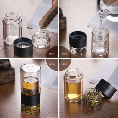 Tea Infuser Portable Flask