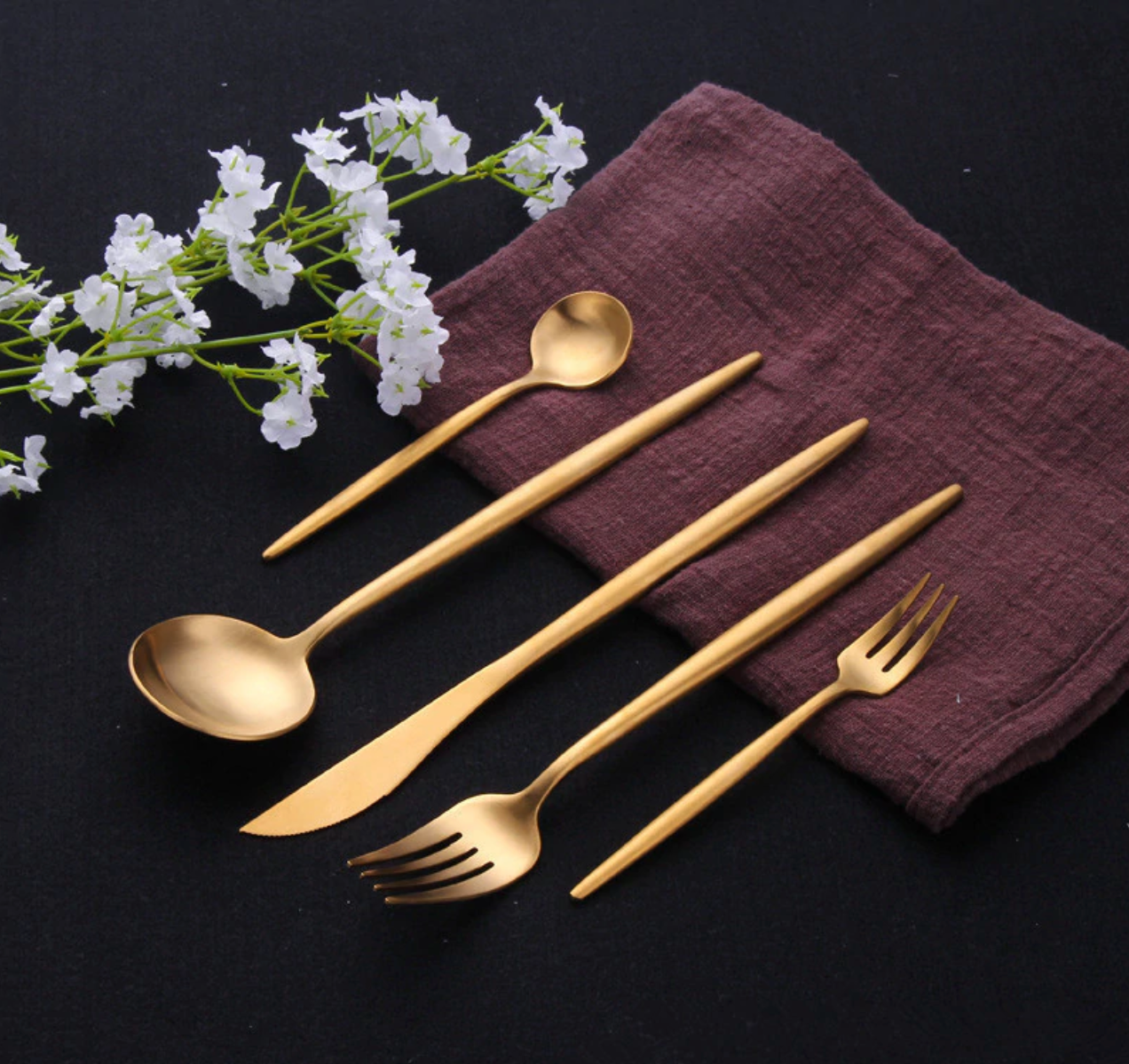 Stylish Gold Cutlery