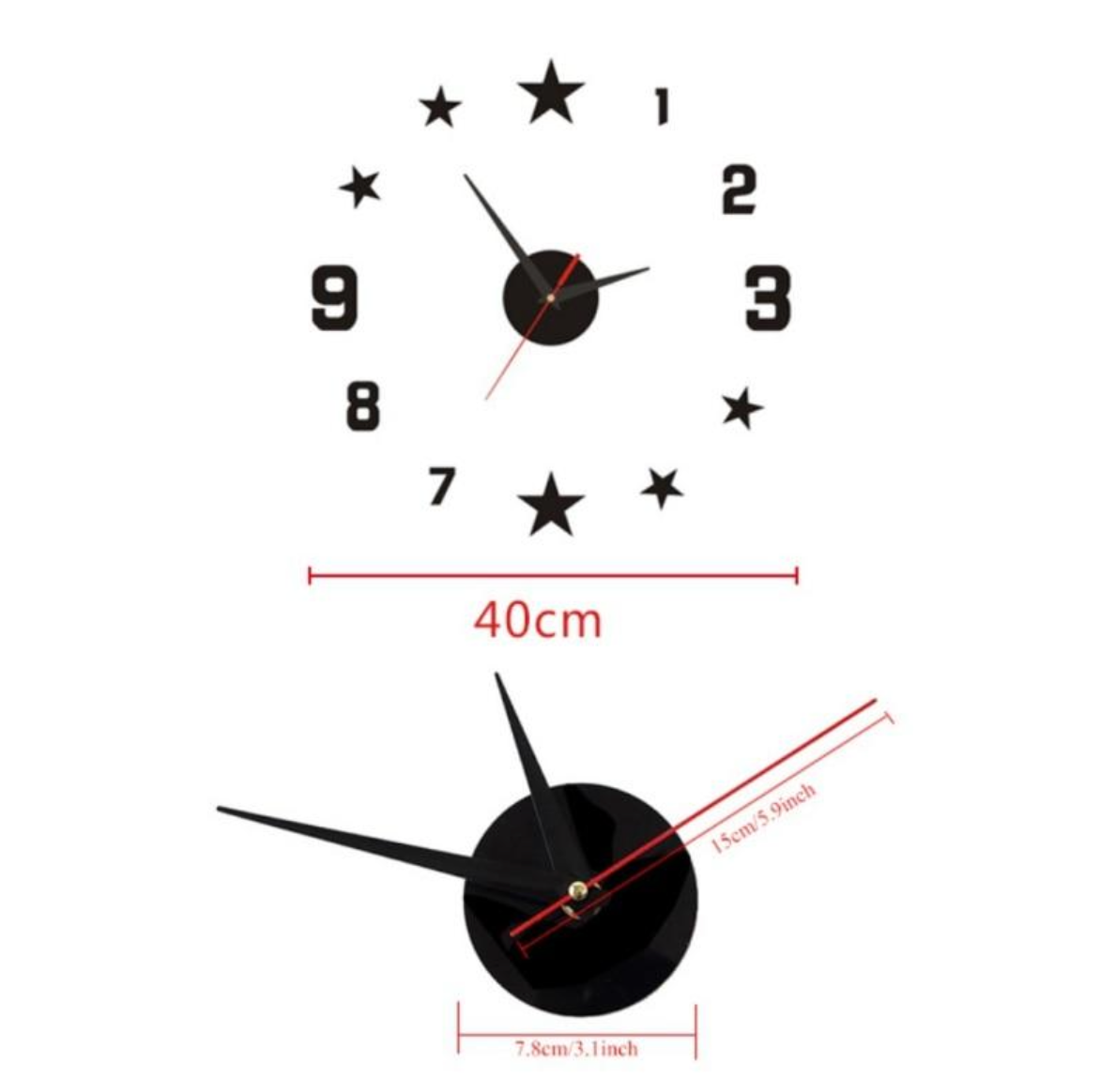 Stars DIY Wall Clock