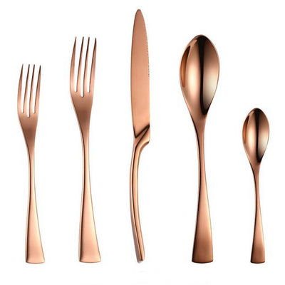 20 Piece Rose Gold Cutlery Set