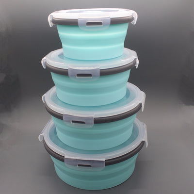 Collapsible Silicone Storage Containers
