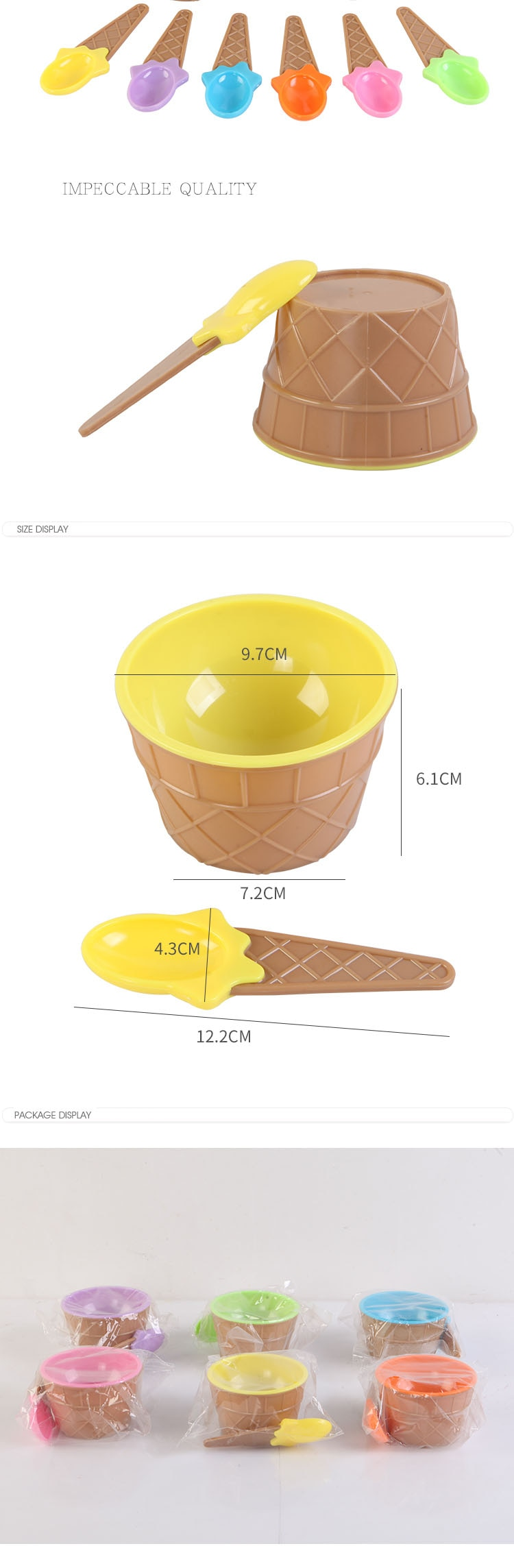 6 Piece Ice Cream Cups