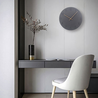 Concrete Style Wall Clock Collection