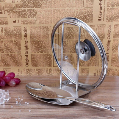 Stainless Steel Pot Cover Rack