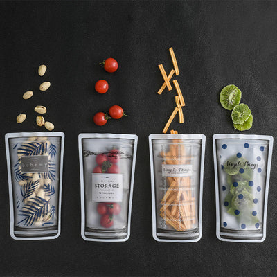 4 Piece Reusable Smoothie Bags