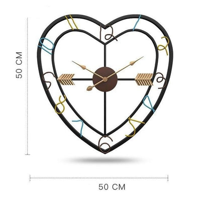 Wired Heart Wall Clock