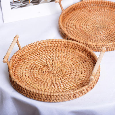 Woven Rattan Tray