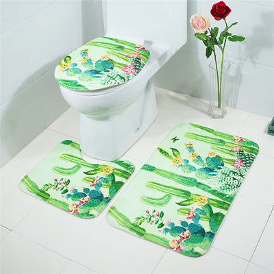 3 Piece Bathroom Mat Set