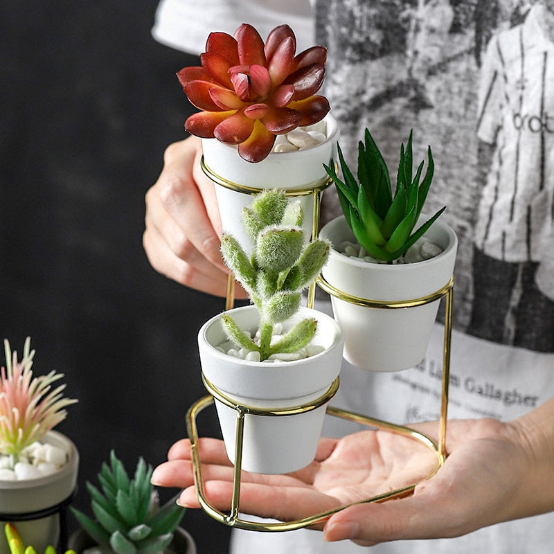 3 Tiered Mini Succulent Pots