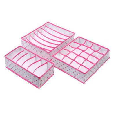 3 Piece Polka Dot Bedroom Organiser