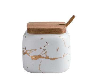 Marble Ceramic Seasoning Jars