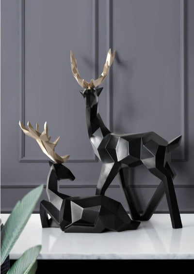 Geometric Deer Figurines