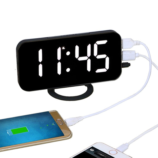 Electronic Charging LED Alarm Clock