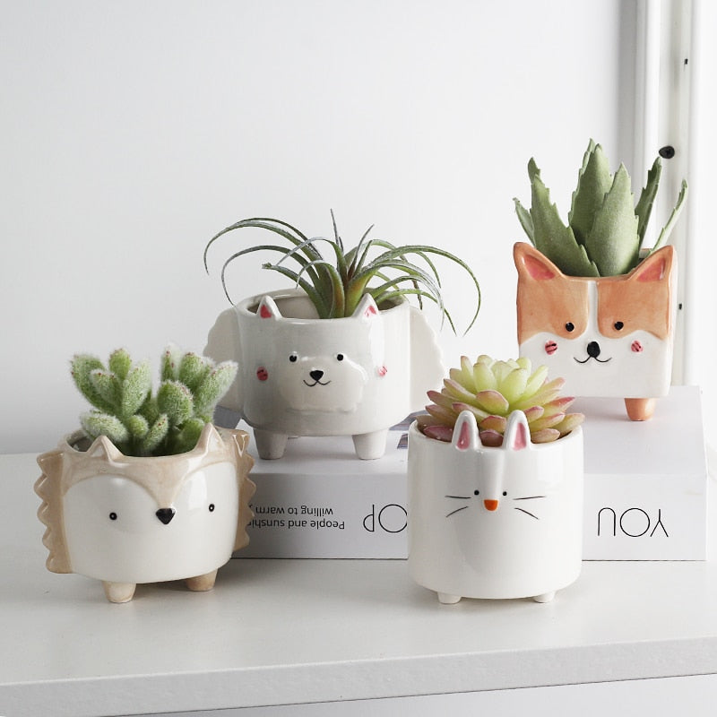Cartoon Animal Planters