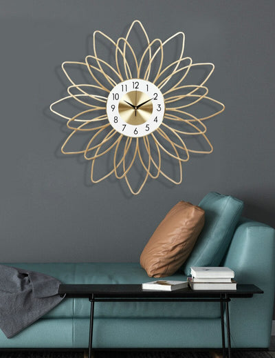 Iron Flower Wall Clock