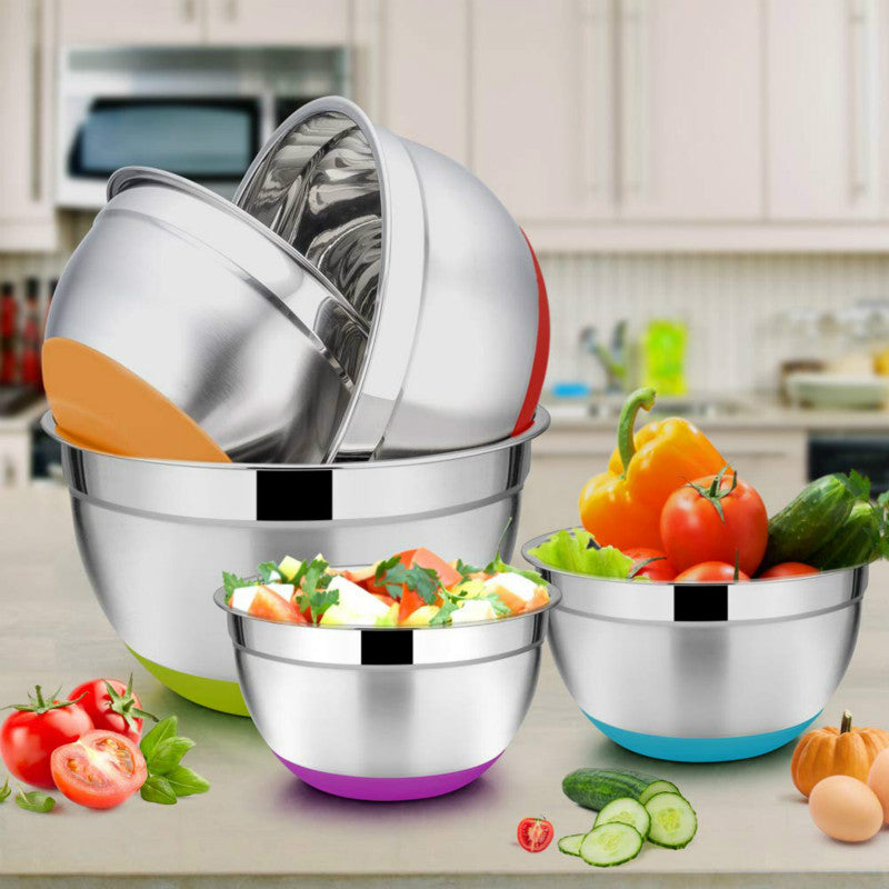 Stainless Steel Mixing Bowls w Lid