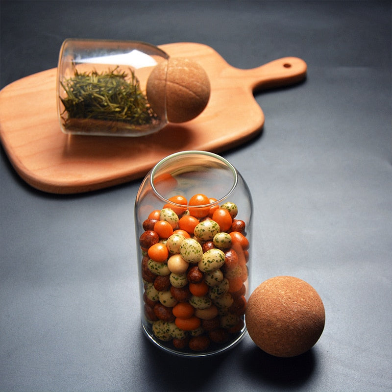 Jar with Cork Stopper