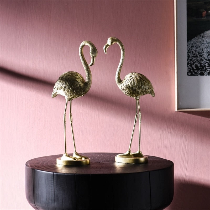 Gold Flamingo Decorative Ornament