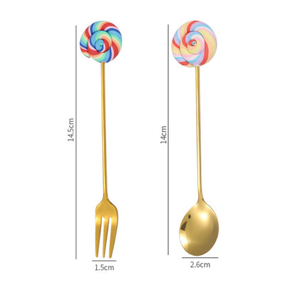 4 Piece Lollipop Dessert Cutlery