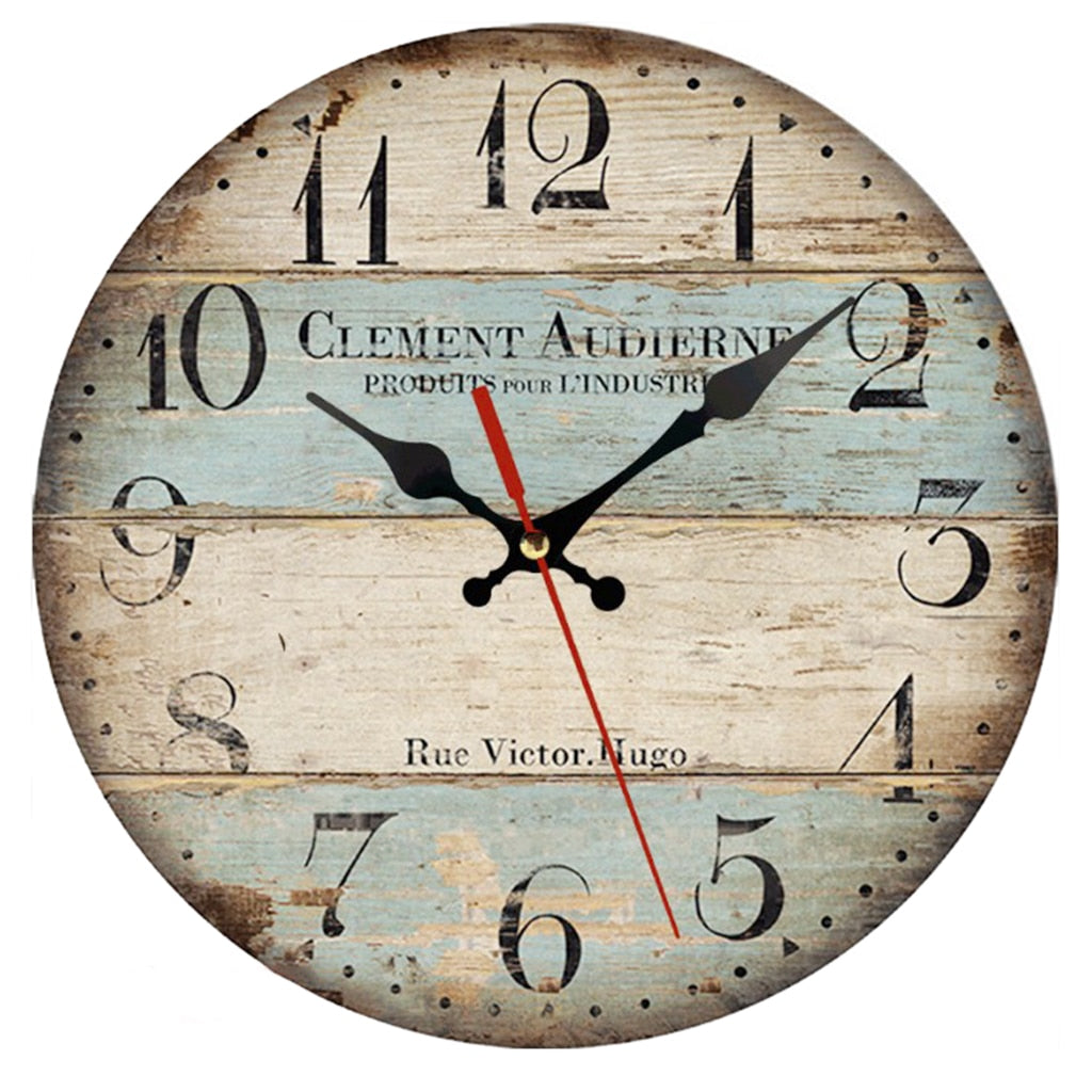 Wooden Style Wall Clock