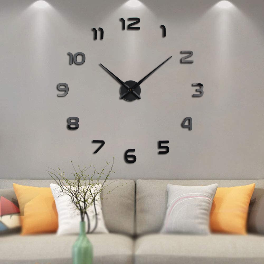 DIY Mirror Wall Clock