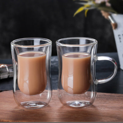 European Double Glass Mug