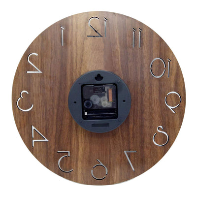 Wooden Style Block Wall Clock