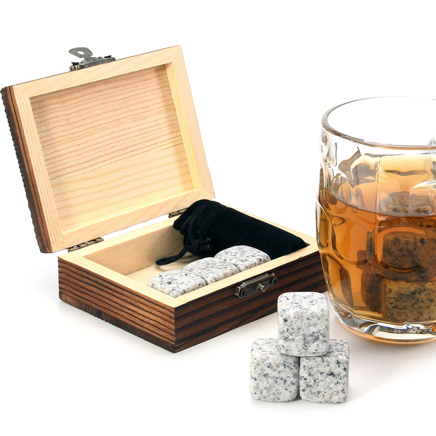Reusable Stone Ice Cubes (Whiskey Stone Set)