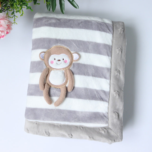 Thick Striped Blankets