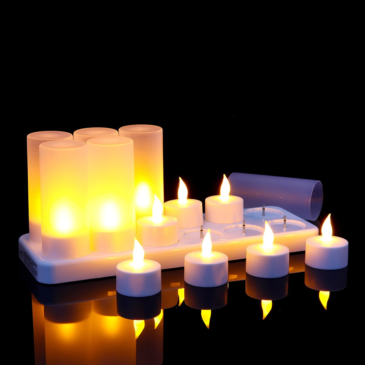 12 Piece Rechargeable Candles