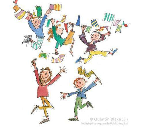 Sir Quentin Blake Celebration mounted