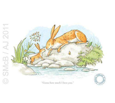 Anita Jeram Guess how much I love you, Big and little hare by pond mounted