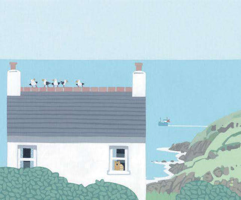 Sasha Harding The White House, Cape Cornwall mounted