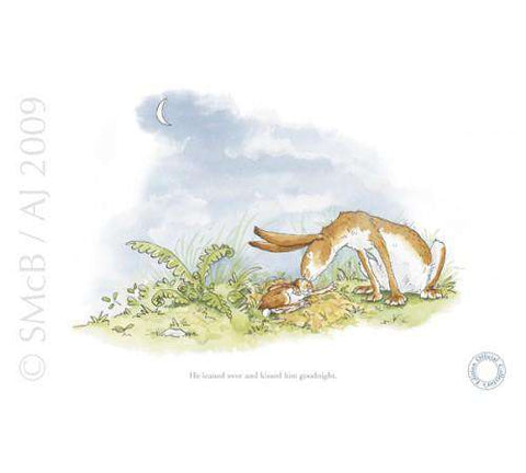 Anita Jeram Guess how much I love you Kissed him goodnight mounted