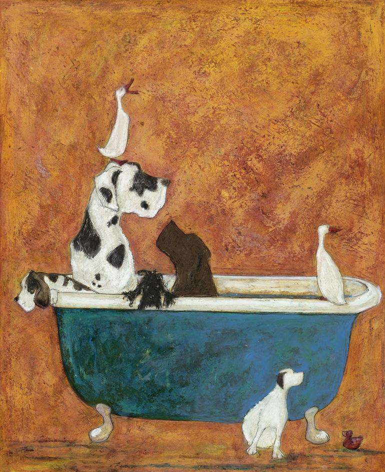 Sam Toft Big Dog Bath mounted