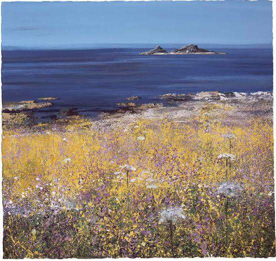 Paul Evans Coastal Flowers mounted