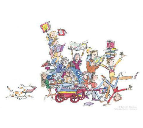 Sir Quentin Blake The Book Cart mounted