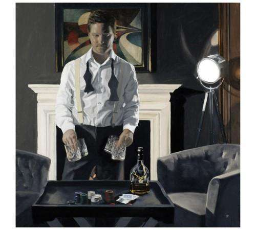 Iain Faulkner Poker Night mounted