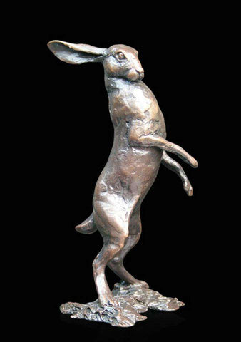 Small Hare Standing 833 solid bronze sculpture