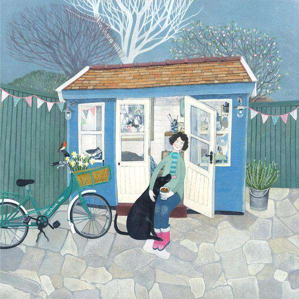 Mani Parkes Our Shed limited edition art print with labrador