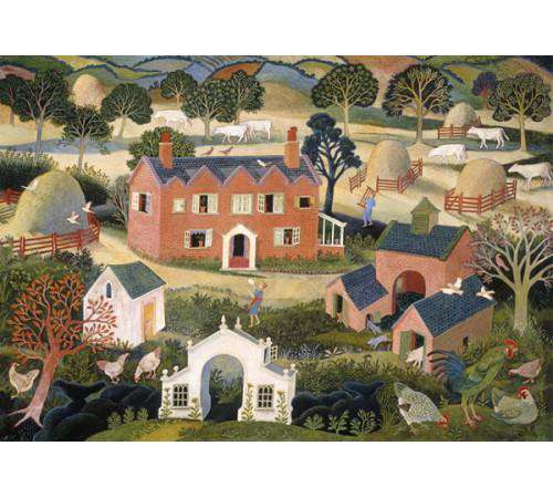 Anna Pugh Red Brick Farmhouse mounted