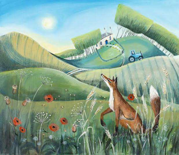 Carolyn Pavey Fox in the Meadow mounted