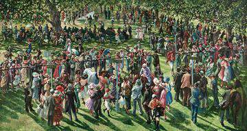Sherree Valentine Daines The Winners Enclosure Ascot unframed