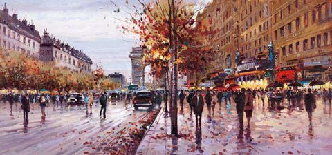 Henderson Cisz On the Champs Elysees canvas board