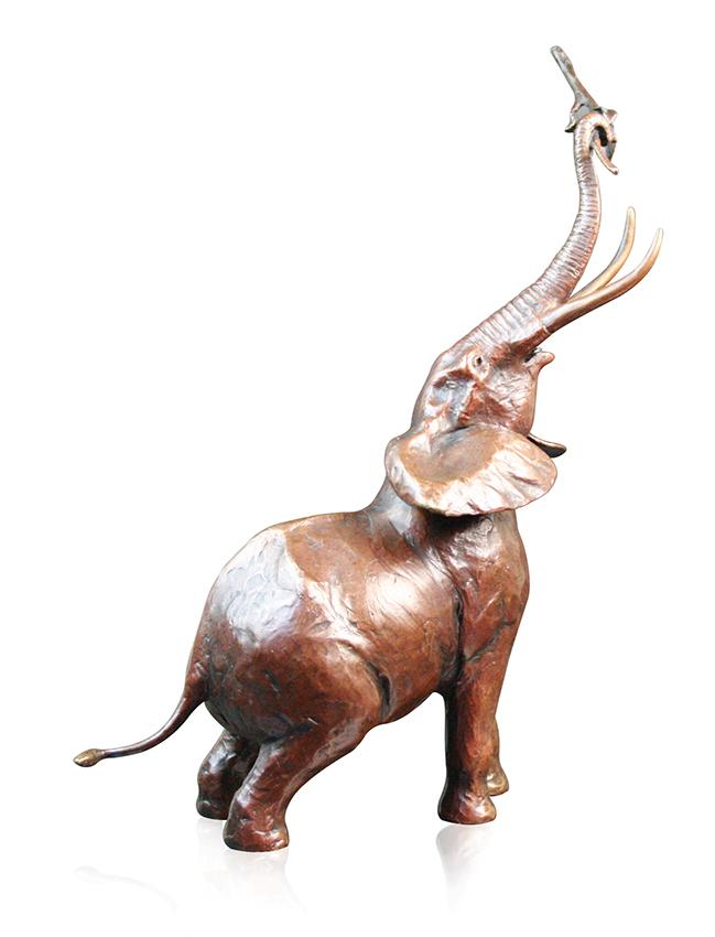Richard cooper medium bull elephants 798 solid bronze sculpture