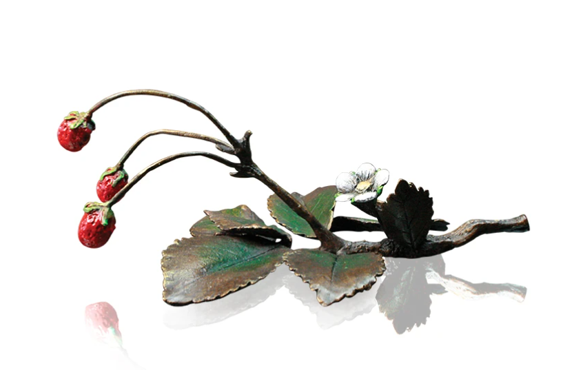 Richard Cooper solid bronze sculputre wild strawberries 965
