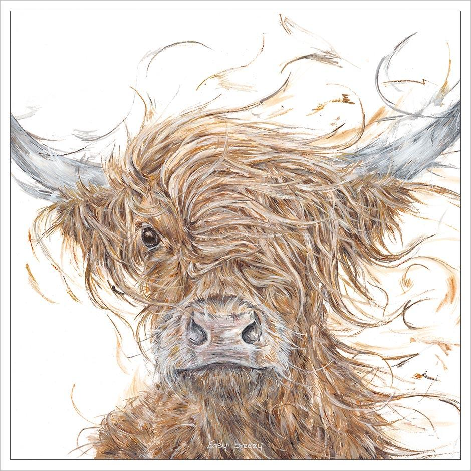 Aaminah Snowdon Easy Breezy Highland cow new for 2019