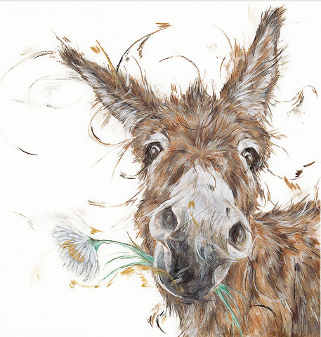 Aaminah Snowdon Flower Power donkey art print new